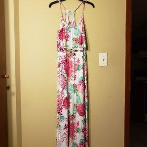 Candie's white floral print maxi dress